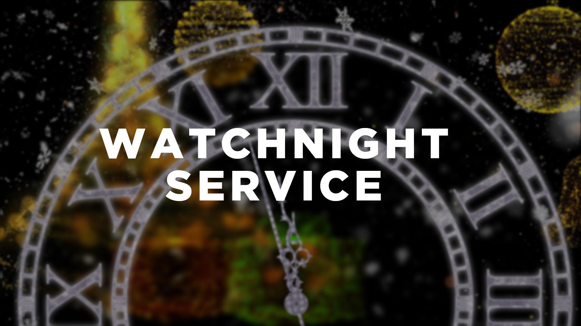 The Well - Watchnight