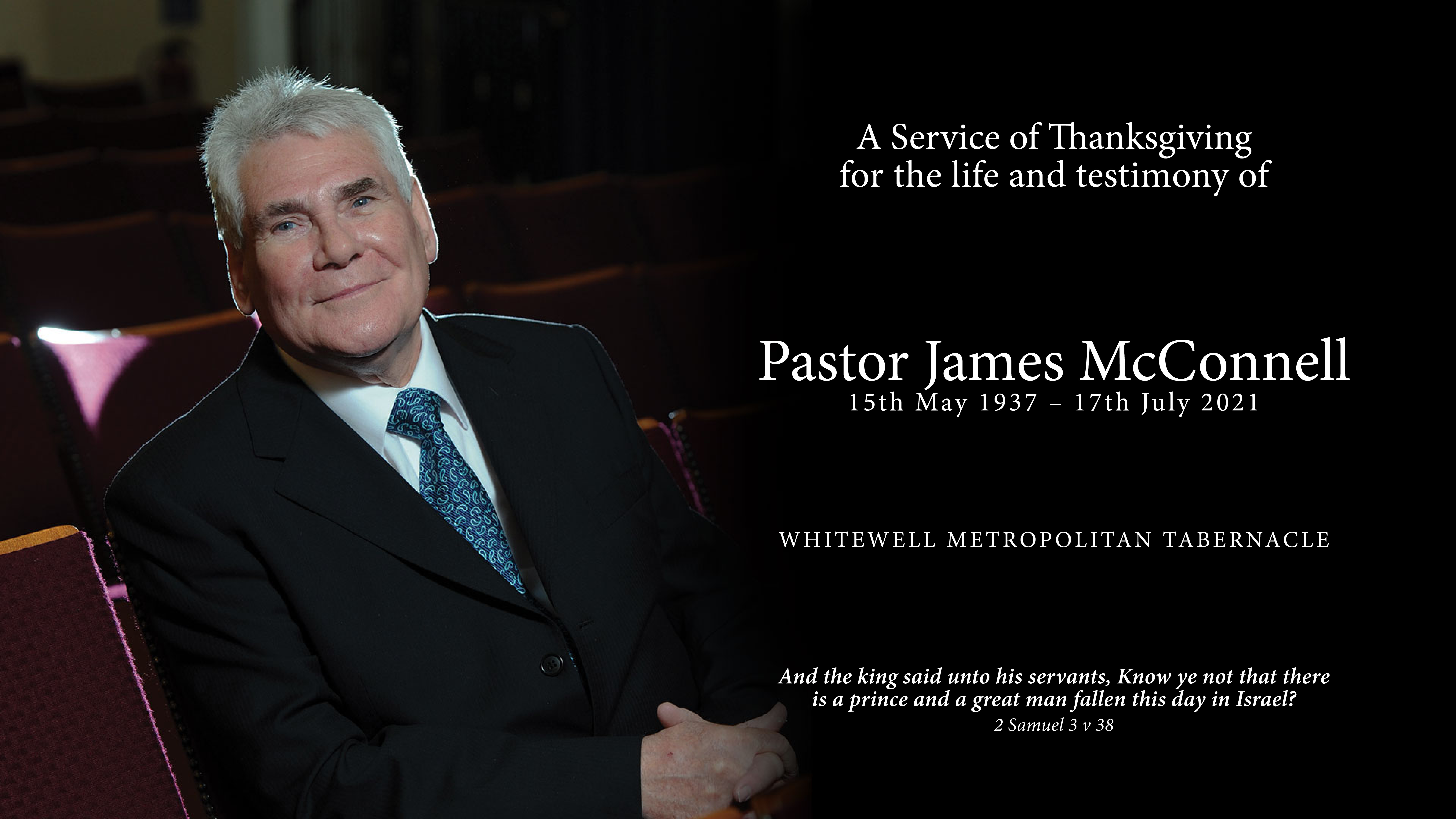 Thanksgiving Service - Pastor James McConnell